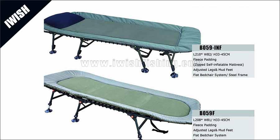 6 Legs or 8 Legs Fishing Bedchair Wholesaler