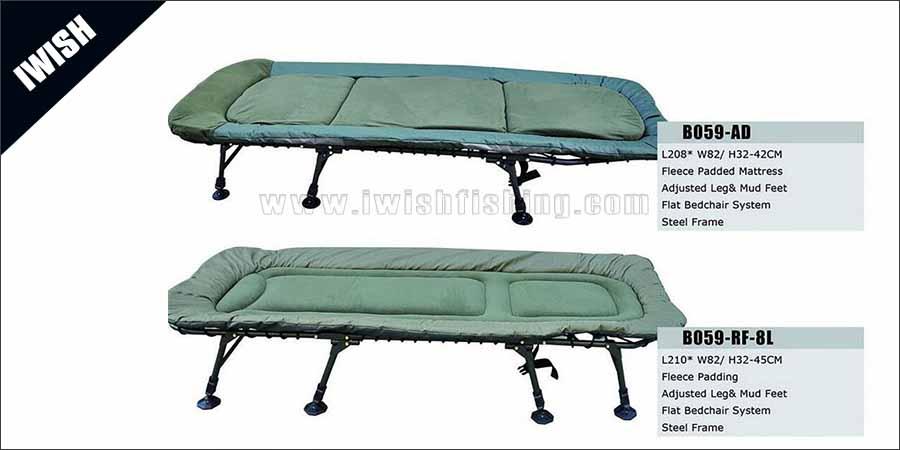 Green Color Large Fishing Comfort Carp Bedchair Sale