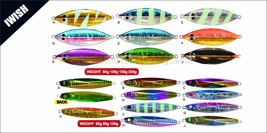 Metal Leaf Snapper Jig Casting Lure