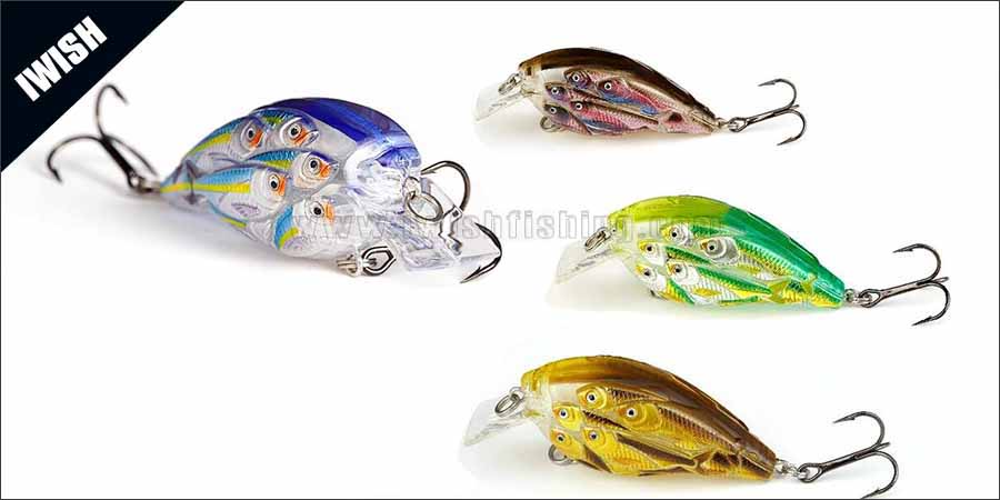 2016 Most Popular Crankbait Lures Bulk Sell With VMC Hook