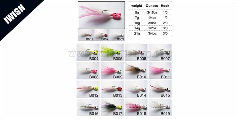 Casting, Trolling Or Jigging Fishing Bucktails For Bass
