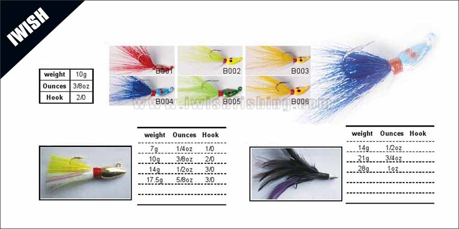Hand Crafted Quality Deer Hair Bucktails Fishing
