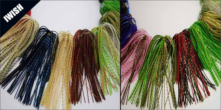 Lure Part Jig Skirts Rubber- Skirts Fishing Jig lure