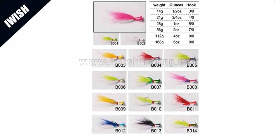 Saltwater Surf Fluke Fishing Versatile Lure Bucktail Hair