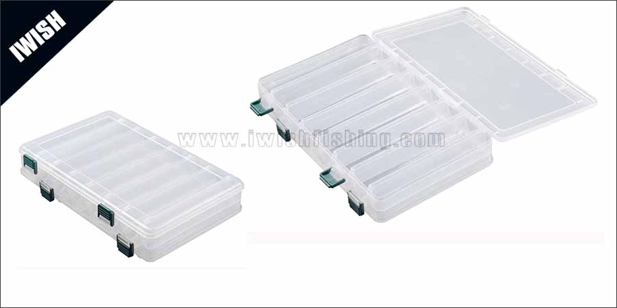Clear Lid 8 Compartment Plastic Lure Box Supplier