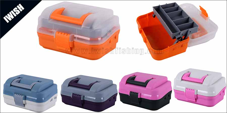 Collapsible Handle Classic One-Tray Large Tackle Box Supplier