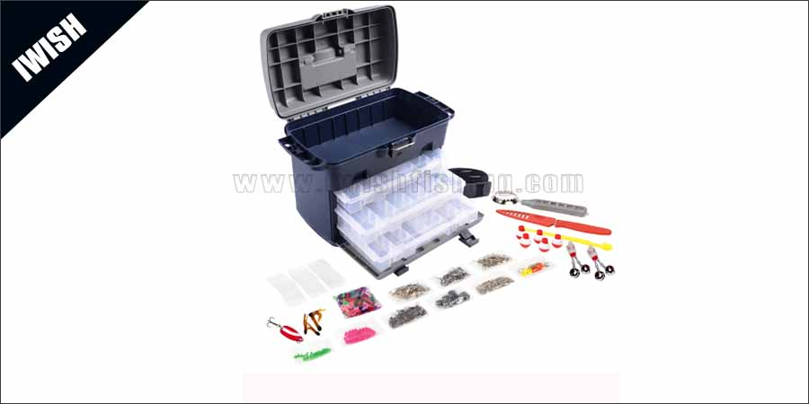 Container Impact-Resistant Lid Large Multi-Loader Tackle Box