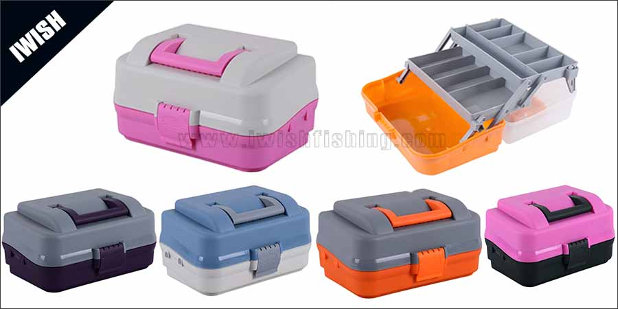 Fisherman Bass Fishing Pink Tackle Box In 2 Trays Wholesale
