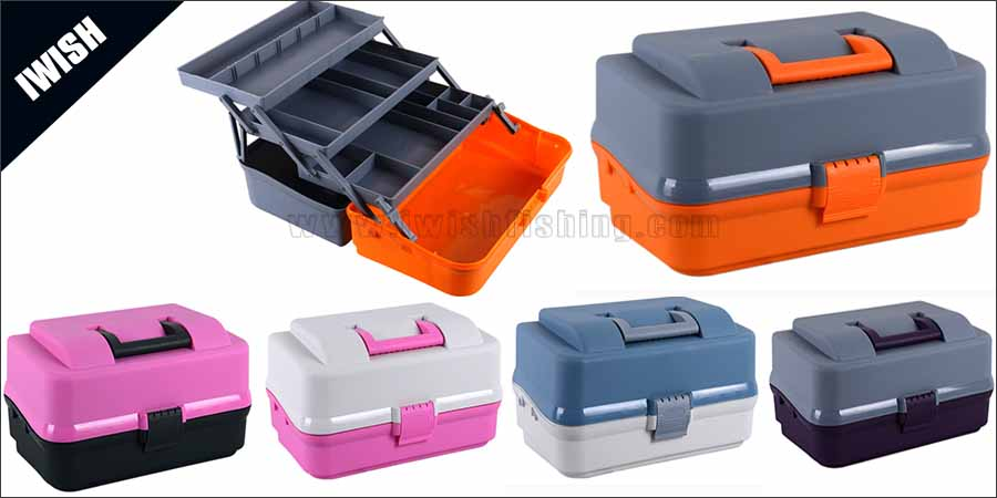 Handy Storage Containers Trio-Tray Tackle Box For Your Fishing Kits