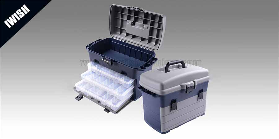 Outing Mini Front Loader Plastic Waterproof Tackle Box For Fishing