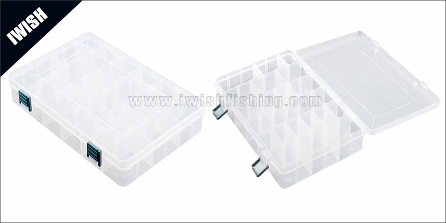 White Color Customized Removable Dividers Utility Fishing Plastic Tackle Box
