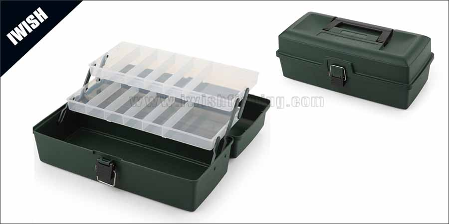 Worm-proof Material 2 Pull-Out Tray Best Tackle Box Wholesale